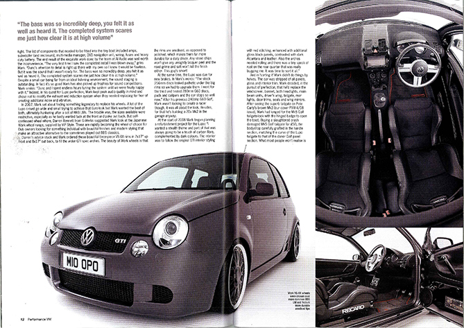 Performance VW Magazine feature car
